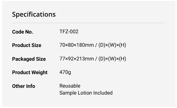 Tenga Flip Zero Black male masturbator specifications