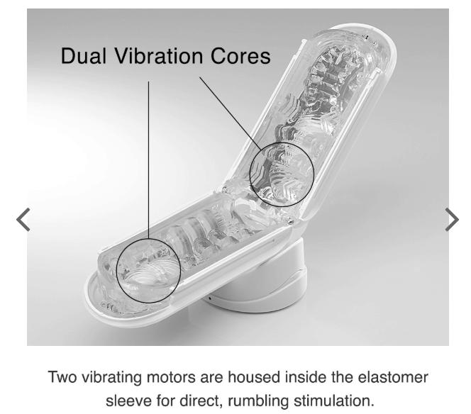 Tenga Flip Zero EV male masturbator features two vibrating cores for increased pleasure