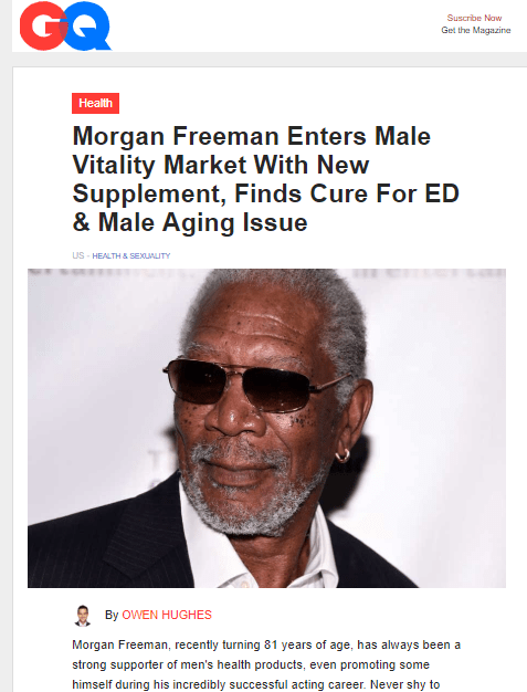 morgan freeman supposed gq article