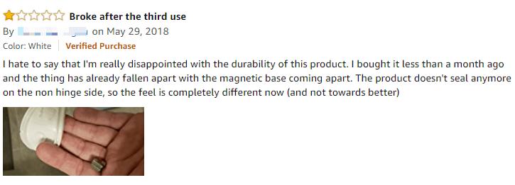 negative review of tenga flip zero