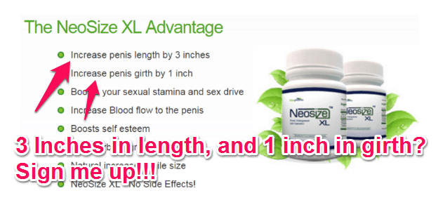 neosize xl claims penis enlargement