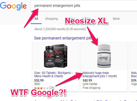 neosize xl is listed as a permanent enlargement pill
