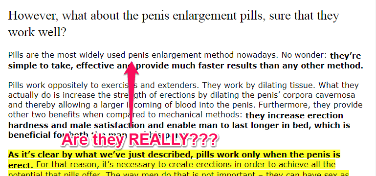 penis enlargement misinformation