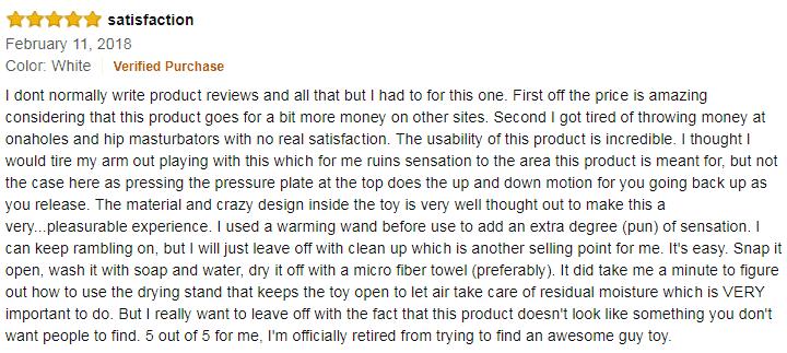 tenga flip zero review on amazon
