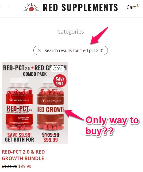 can i buy red pct 2.0 by itself