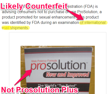 prosolution counterfeit