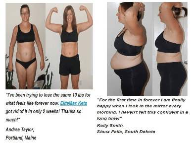 elitemax keto before - after
