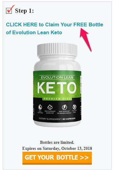 free bottle of evolution lean keto