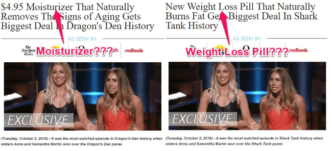 fake keto diet pill ads for shark tank