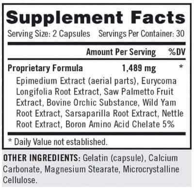 rx max force ingredients label