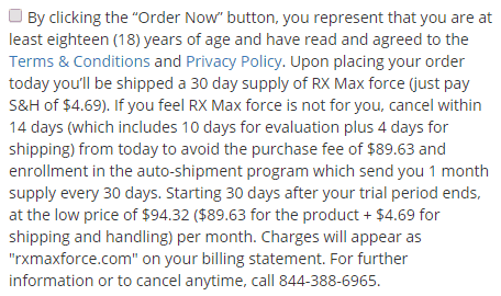 rx max force terms and conditions