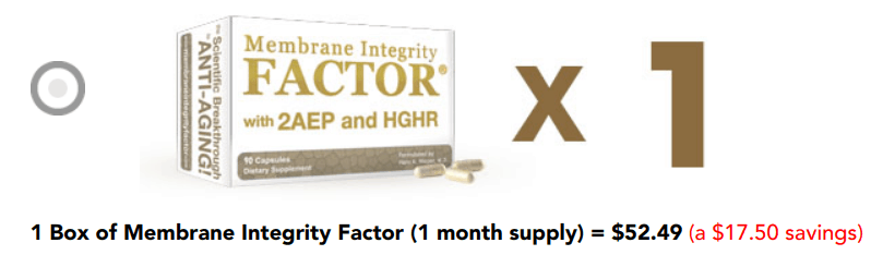 Membrane Integrity Factor costs about $55 for a one month supply