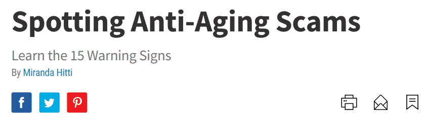 WebMD wrote a great article on how to spot anti-aging scams like Membrane Integrity Factor
