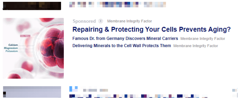 I came across this Membrane Integrity Factor ad while searching the internet